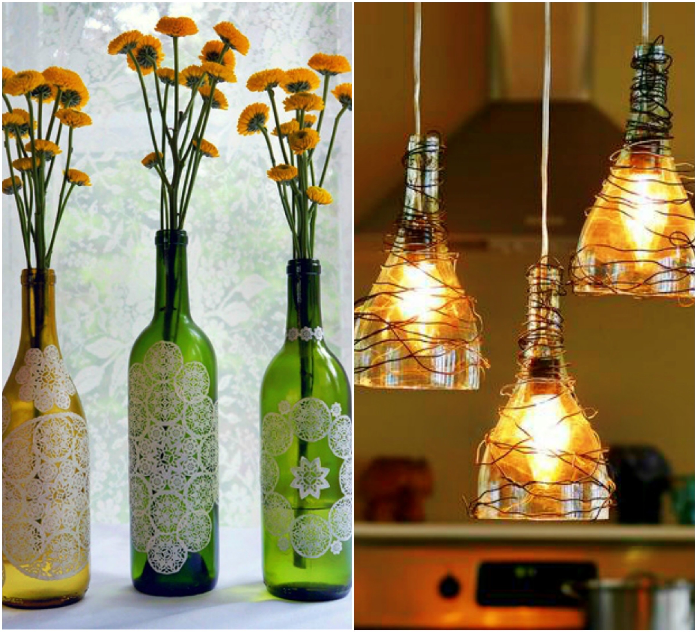 Ways to reuse wine bottles cornfedcontessa for Reuse glass