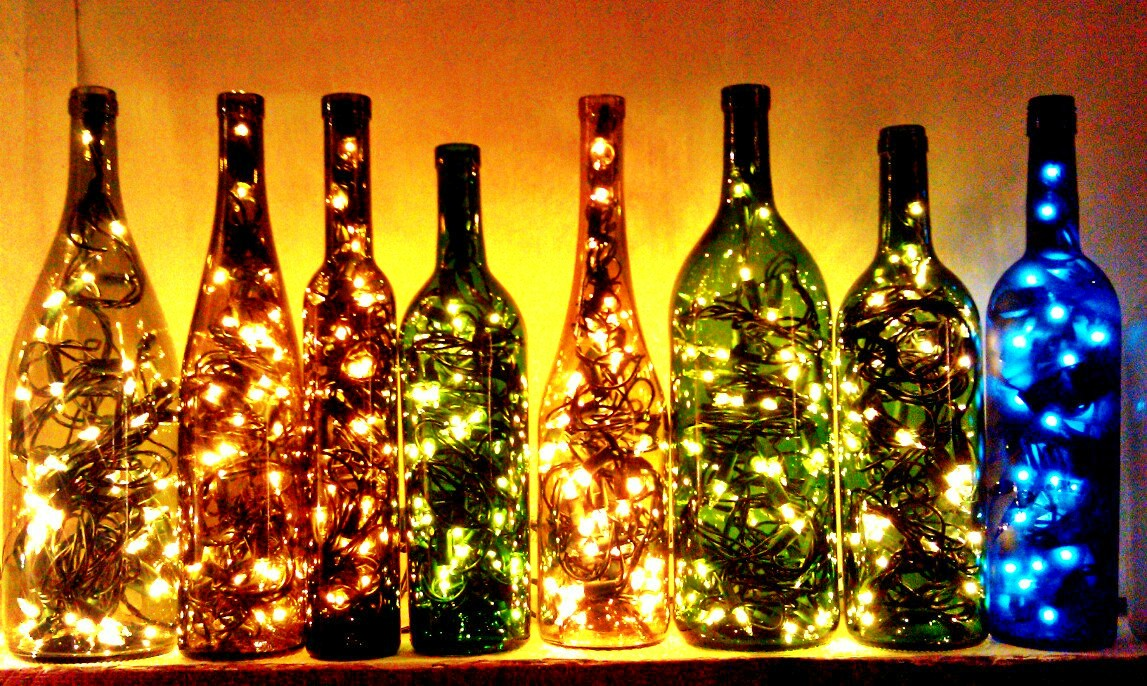 Ways to reuse wine bottles cornfedcontessa - Ways to recycle glass bottles ...