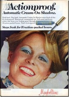 Blue Eyeshadow 1970's