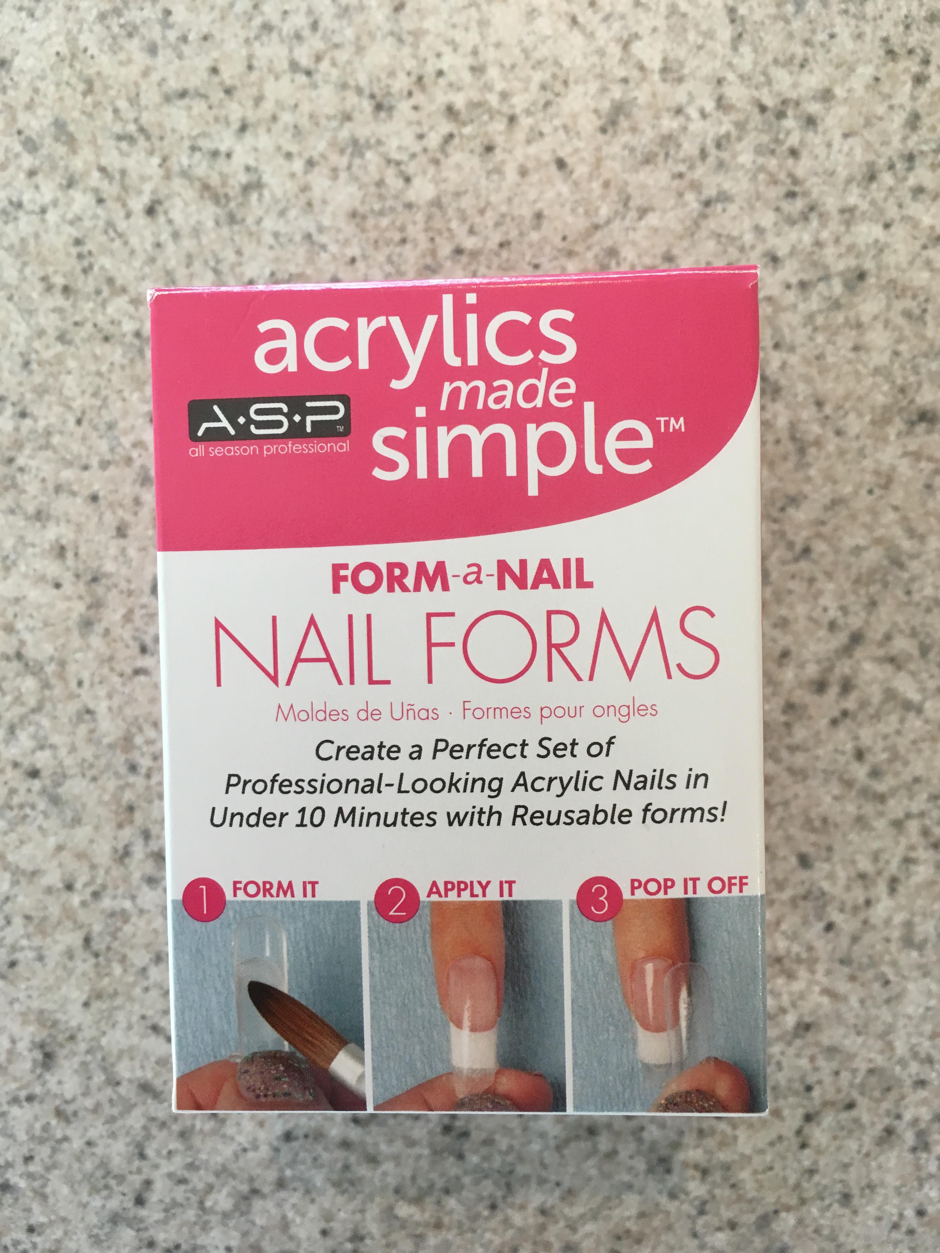 DIY Acrylic nails 5-28-16-Nail forms | cornfedcontessa