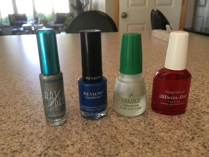 DIY Acrylic nails 5-28-16-polish used