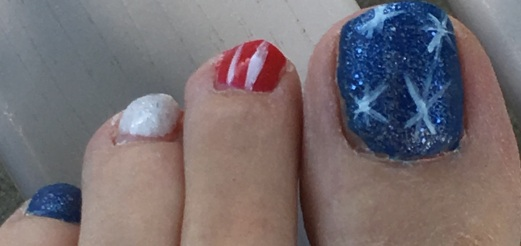 Fourth of July 2016 Pedicure