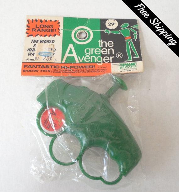 Green Avenger squirt gun 9-9-17