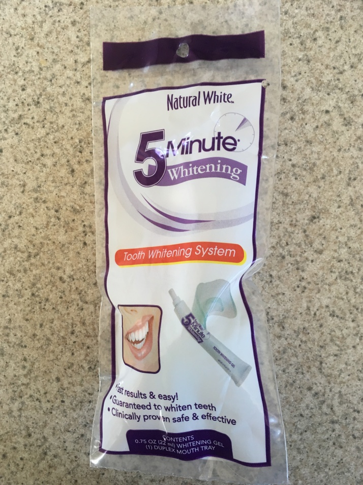 Natural White 5 Minute Tooth Whitening System 4-1-18
