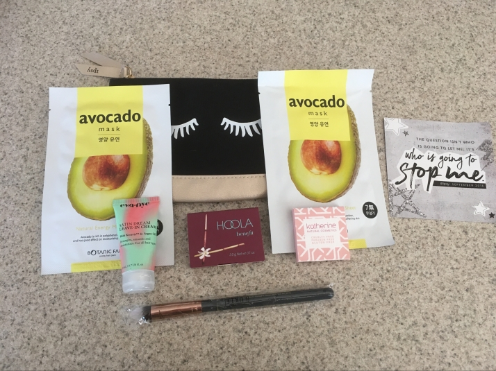 Ipsy Sept. 2018 Glam bag 9-15-18